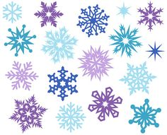 snow flakes clip art simple snowflakes clipart iii vinyl ready rh pinterest com White Snowflake Clip Art Blue and White Snowflake Background