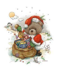 Hiver et Noel illustrés par Greg Giordano /oursons
