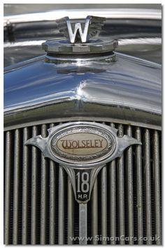 aa_Wolseley Series III badge - Wolseley Series III - illuminated badge on grille Car Badges, Car Logos, Classic Car Garage, Classic Cars, Vintage Cars, Antique Cars, Birmingham, Car Cooler, Car Hood Ornaments