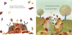 Horace and Hattie playing in the leaves! Illustrations by illustrator Lucy Tapper.