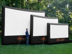 16-foot-wide inflatable outdoot movie screen @Maryann S Rizzo