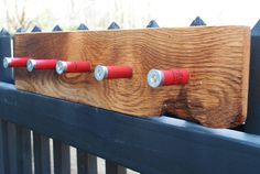 Shotgun Shell Coat or Hat Rack, Reclaimed Oak Barn Wood