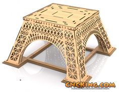 Laser Cut Eiffel Tower: Design Update 6 – First Platform Done! - CNCKing.com Blog