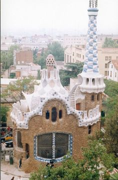 Barcelona. Spanish Catalan architect Antoni Gaudi, known for his fantastically original architectural works that can be found throughout Barcelona, incorporated intriguing mythological imagery within his Park Güell, including an outstanding colorful mosaic lizard and a sea serpent-shaped bench which took its unforgettable form thanks to the impression of a woman's curvaceous derriere in the wet clay.