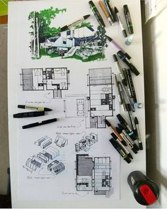 Presentation board by Love the modular concept of the architecture . Architecture Sketchbook, Architecture Board, Architecture Student, Architecture Design, Cultural Architecture, Architecture Presentation Board, Presentation Design, Presentation Boards, Instagram Chat