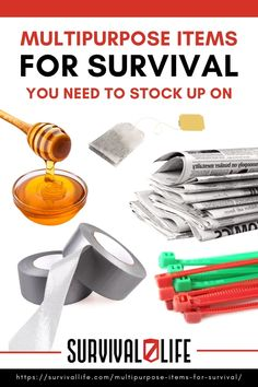 Before you run for the store, check out these multipurpose items for survival your cupboard may hold now! #survivalkit #multipurposeitems #survivalitems #survivaltips #survival #preparedness #survivallife Survival Items, Survival Life, Survival Tools, Everyday Items