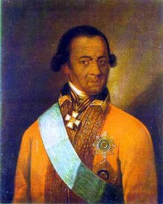 Abram Petrovich Gannibal (1696-May14,1781) was a African-Russian nobleman, military engineer and general.He was kidnapped as a child and presented to Peter l the Great, whom he adopted and was raised in the Emperor's court household as his godson. He rose under Peter l's daughter Elisabeth(1709-1762) reign from 1741-1762. His great-grandson is author and poet Alexander  Pushkin(June 08,1799-February11,1837).-1Ганнибал сыграл значительную роль в Прибалтике
