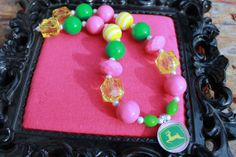 John Deere Chunky Necklace by altobin on Etsy, $18.00