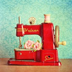 antique Vulcan toy sewing machine