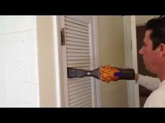 ▶ How to paint a louvre door - YouTube