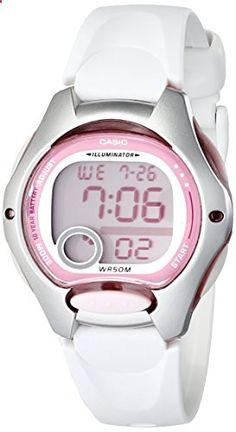 Casio Women's LW200-7AV Digital Watch with White Resin Strap. Go to the website to read more description.