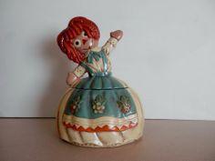 Twin Winton Collectors Series Raggedy Ann Vintage Cookie Jar RARE