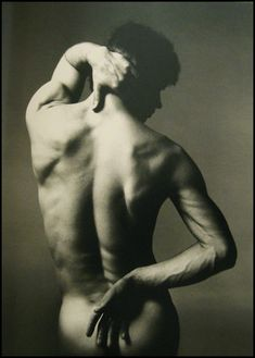 Rudolf Nureyev. Performance. This image has a strong emphasis on shape created by the position of the body and hands. There is also deep shadow on the face which denies communication with the audience.