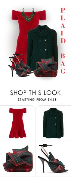 """""""Plaid Bag"""" by lorrainekeenan ❤ liked on Polyvore featuring Rails, Aspesi and N°21"""