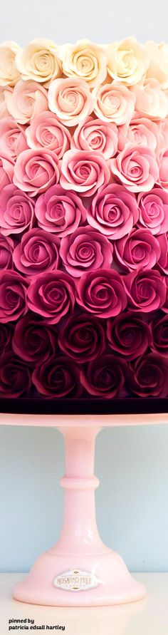 Ombre Roses - Rosalind Miller Cakes Next Wallpaper, Wallpaper For Your Phone, Flower Wallpaper, Iphone Wallpaper, Beautiful Roses, Pretty Flowers, Pretty In Pink, London Cake, Stoff Design
