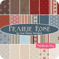 Prairie Rose Rolie Polie Sue Daley Designs for Riley Blake Designs - Fat Quarter Shop