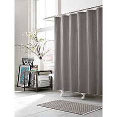 Give your bathroom a cozy, lived-in look with the Kenneth Cole Reaction Home Mineral Shower Curtain. Crafted of a soft linen and cotton blend, the beautiful shower curtain brings an effortless touch of understated luxury to your bathroom's décor.