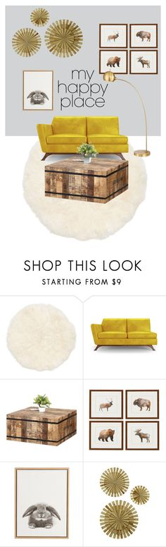 """Lovely Place"" by egesuk on Polyvore featuring interior, interiors, interior design, ev, home decor, interior decorating, Joybird, Pier 1 Imports ve Possini Euro Design"
