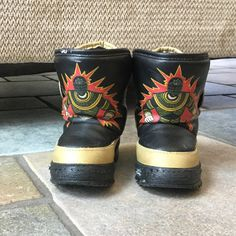 1990s Gold Ranger Boots  Power Rangers Boots  by MyVintagePoint