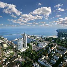 Wspaniały widok z lotu ptaka w Gdyni #gdynia #weekend #podroze