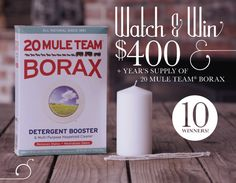 Watch and WIN with Borax Sweepstakes - I Crave Freebies Best Diet Plan, Money Today, Enter To Win, Amazon Gifts, Best Diets, What Is Life About, Clean House, Candle Wicks, Oct 30