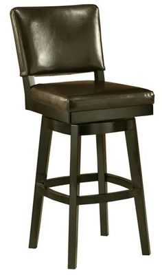 Amazon.com - Pastel Furniture RC-219-30-FB-867 Richfield Swivel Barstool, 30-Inch, Feher Black and Brown Leather -