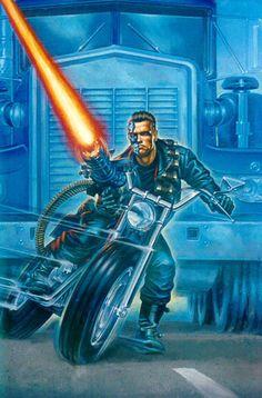 Terminator. Paul Kidby. Terminator 1984, Terminator Movies, Geek Culture, Pop Culture, Science Fiction, Sci Fi Films, Movie Poster Art, About Time Movie, Geek Art