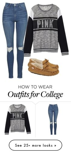 """Grey pink"" by melw44 on Polyvore featuring Victoria's Secret, Topshop and Slippers International"