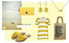 Yellow fashion and beach items - www.flavourzine.nl