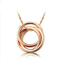 Wholesale 18K Rose Gold Plated 925 Silver Ring Style Necklace