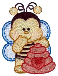 Baby Bumble Bee Machine Embroidered Quilt Blocks
