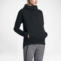 Nike Sportswear Tech Fleece Women's Pullover Hoodie Size Medium (Black) - Clearance Sale