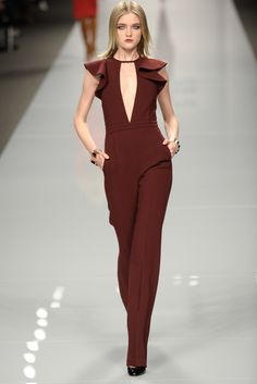 jumpsuits are it thi - http://fashionable.allgoodies.net/2014/02/jumpsuits-are-it-thi/ Burgundy, Jumpsuit, Overalls, Monkey, Jumpsuits, Wine Red Hair