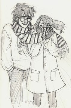 an old sketch i thought i'd dust off for the hpshipweeks. i'm not kidding when i say i draw harry and ginny constantly. they jus...