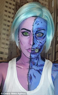 Make up - Creepy characters: Lianne crafted Gwen from iZombie