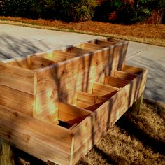 I like the split areas to divide up what i grow. DIY planter box
