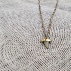 Labradorite 24K Gold-Dipped Shark Tooth Necklace by ShopStranded  Only like that one and it's too short