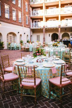 A Colorful Polka Dot Wedding