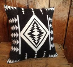 Love this B&W Pendleton Throw Pillow by  Indian VS Indian on uncovet, $32 >> Would look great on my couch!!