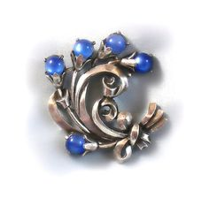 Vintage Coro Blue Moonstone Brooch 1941 by by RoseCottageVintage, $44.99