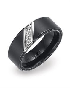will go with my black diamond ring - Wedding Rings For Guys