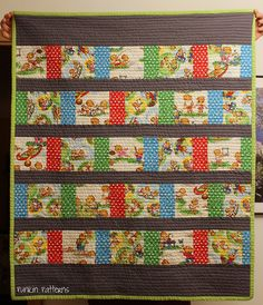 BB baby quilt, front full by punkinpatterns, via Flickr