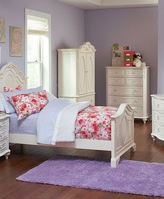 Adley Kids Bed Twin Poster Bed Furniture Macy S