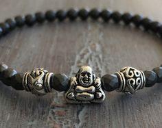 Buddha Bracelet, Yoga Bracelet, Hematite Bracelet, Meditation Bracelet, Buddha Jewelry, Boho Jewelry, Buddha