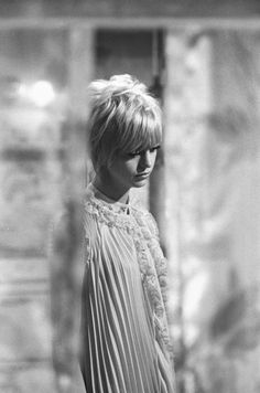 """A pensive Goldie Hawn on the Columbia Studios set of """"Cactus Flower,"""" 1969"""