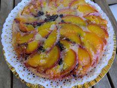 La cajita de nieveselena: Tarta de nectarinas, kumquats y gotas de chocolate