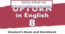 2015-2016 Yılı 8.Sınıf İngilizce Konuları