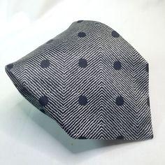 Stefano Ricci Silk Necktie Tie Black White Stripes Polka Dot 59 x 4 Self-Tipped #StefanoRicci #NeckTie