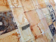 tea bags stitched, June 14, 2013 Jennifer Coyne Qudeen