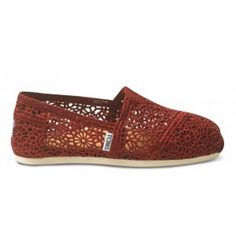 Toms Women's Classics Crochet Red Shoes